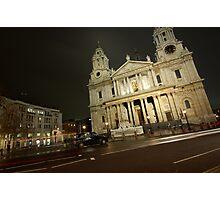 Taxi at Saint Paul's Photographic Print