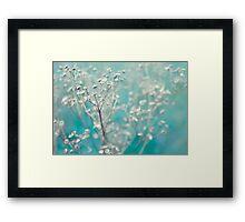 Bleu d'hiver Framed Print
