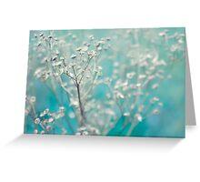 Bleu d'hiver Greeting Card