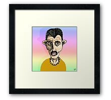 Freddie Mercury Cartoon Caricature Framed Print