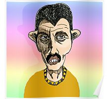 Freddie Mercury Cartoon Caricature Poster