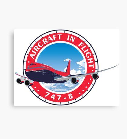 Aircraft in flight 747 Canvas Print
