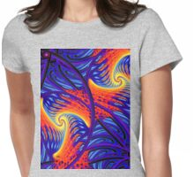 flame thrower Womens Fitted T-Shirt