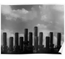 Blue Monday Skyline Poster