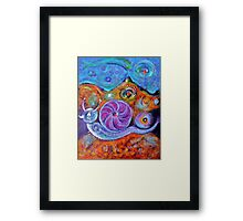 Let's Say a Snail Framed Print