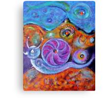 Let's Say a Snail Canvas Print
