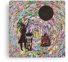 Shaman Drummer Canvas Print