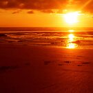 Burning beach by Tibbs
