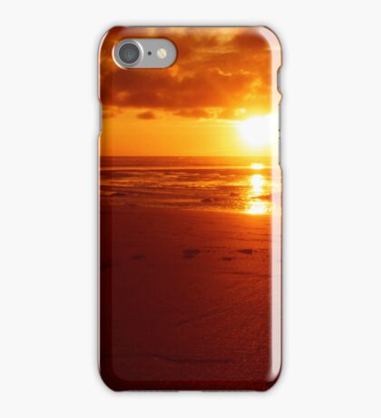 Burning beach iPhone Case/Skin