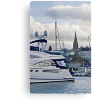 Inside the Marina Metal Print