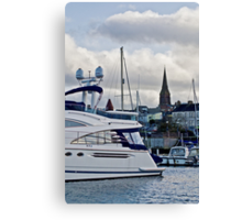 Inside the Marina Canvas Print