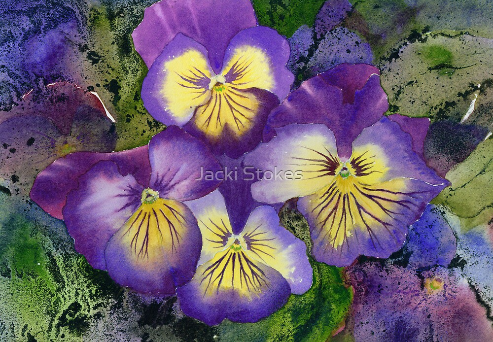 Busy Pansies by Jacki Stokes