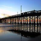 Newport Pier Sunset by tom j deters