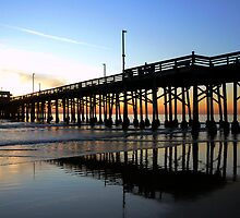 Newport Pier Sunset by tom j deters