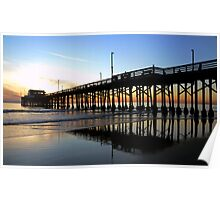 Newport Pier Sunset Poster