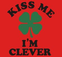 Kiss me, Im CLEVER Kids Clothes