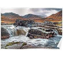 Waterfall On The River Etive Poster