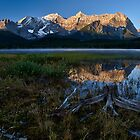Lower Kananaskis Lake sunrise by Peter Luxem