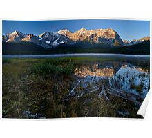 Lower Kananaskis Lake sunrise Poster