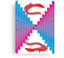Color Column Canvas Print
