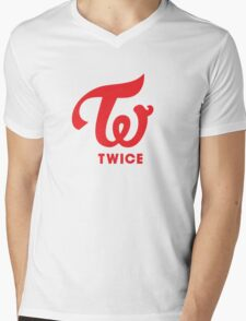 Twice Logo Mens V-Neck T-Shirt
