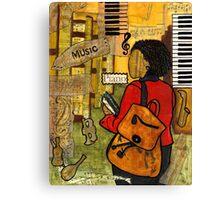 Urban Music Student Canvas Print