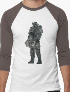 Pixel Brother of Steel Paladin Men's Baseball ¾ T-Shirt
