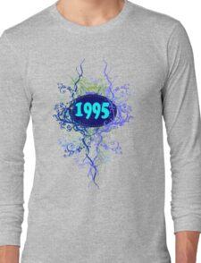 1995 colorful retro vintage T-shirt Long Sleeve T-Shirt