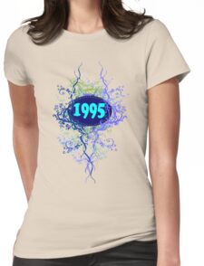 1995 colorful retro vintage T-shirt Womens Fitted T-Shirt