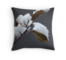 an early snow... Throw Pillow