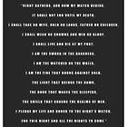 Night's Watch Oath by liquidsouldes