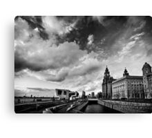 Liverpool B+W Canvas Print