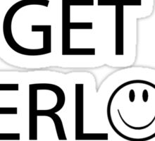Get Sherlock! (White) Sticker