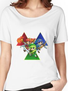 Zelda Triforce Heroes Three Links Women's Relaxed Fit T-Shirt