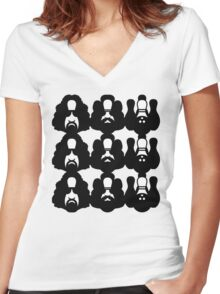 M.C. LEBOWSKI Women's Fitted V-Neck T-Shirt