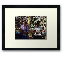 The Patio Framed Print