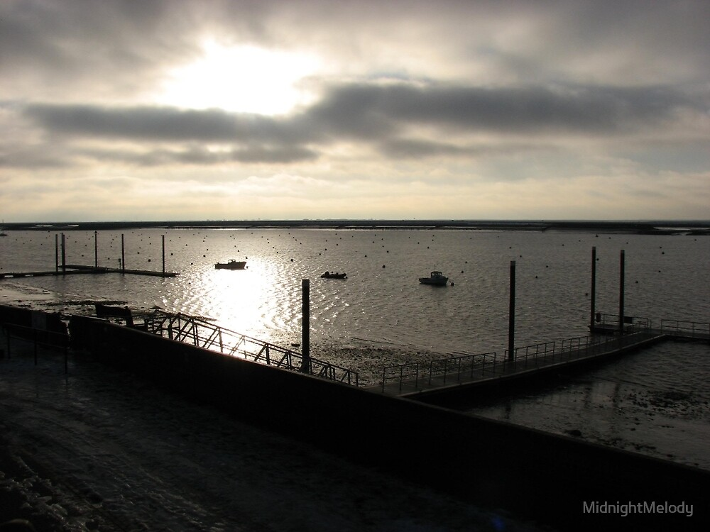 The River Crouch at Sunrise in December by MidnightMelody