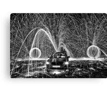 Fountain of sparks Canvas Print