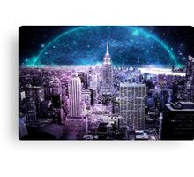 Another World Another City  Canvas Print