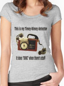 Timey-Wimey Detector Women's Fitted Scoop T-Shirt