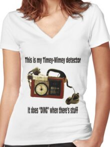 Timey-Wimey Detector Women's Fitted V-Neck T-Shirt