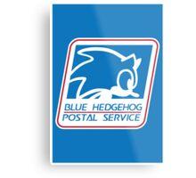 BLUE HEDGEHOG POSTAL SERVICE Metal Print