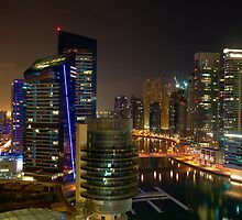 Dubai Skyline by Dave Mercer