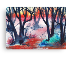 Inktense Trees Canvas Print