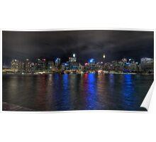 Sydney CBD at night Poster