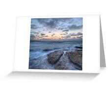 Pink sunset at Cronulla Beach Greeting Card