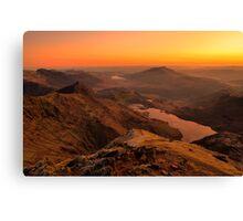 Snowdon Sunrise Canvas Print