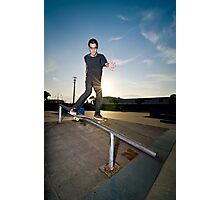 Skateboarder on a slide Photographic Print