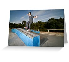 Skateboarder on a grind Greeting Card
