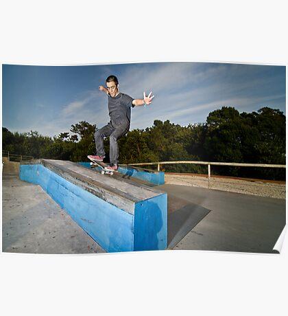 Skateboarder on a grind Poster